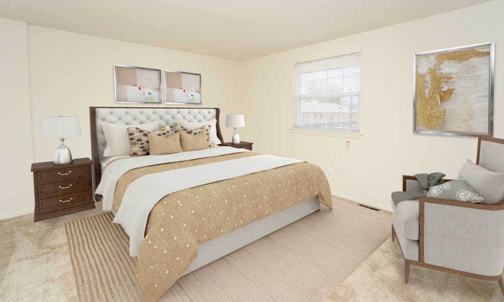 Beautiful Bedroom at Burnt Mill Apartment Homes in Voorhees, New Jersey