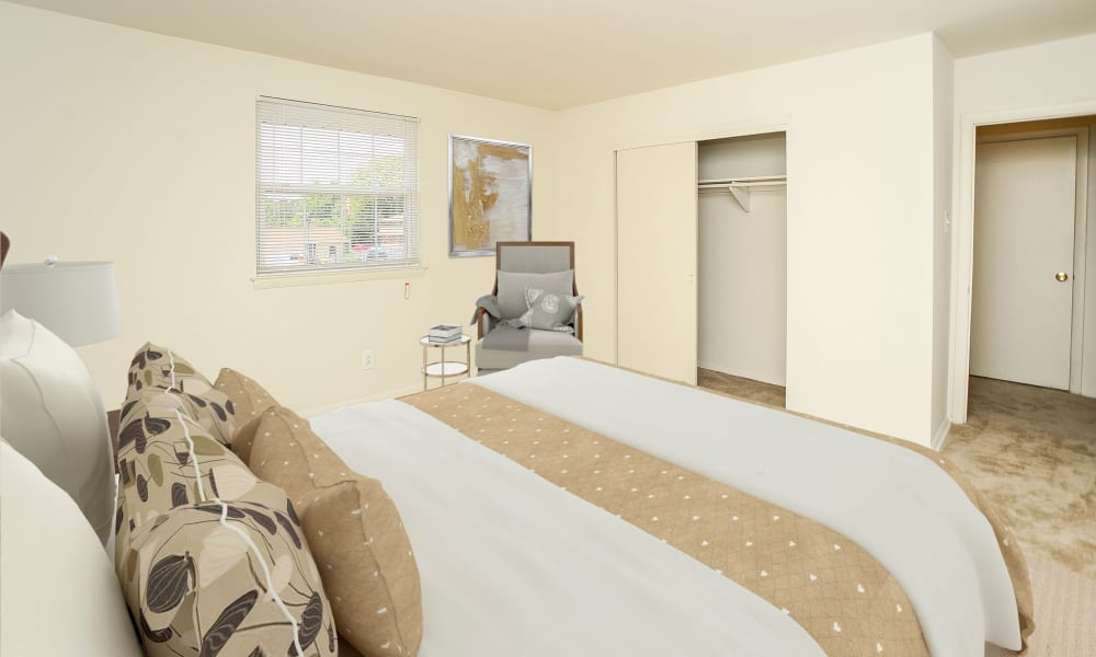 Spacious Bedroom at Burnt Mill Apartment Homes in Voorhees, New Jersey