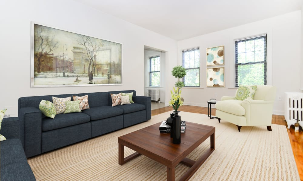 Spacious Living Room at Hillside Gardens Apartment Homes in Nutley, New Jersey