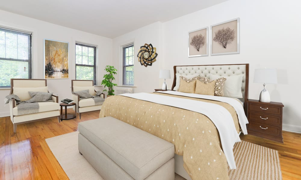Beautiful Bedroom at Hillside Gardens Apartment Homes in Nutley, New Jersey