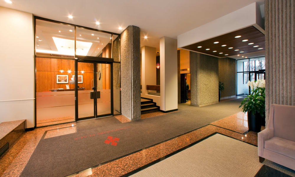 Front entrance at Widdicombe Place in Etobicoke