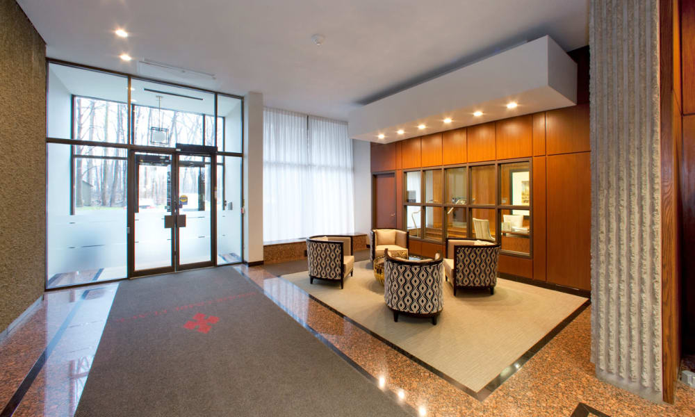 Front lobby area at Widdicombe Place in Etobicoke