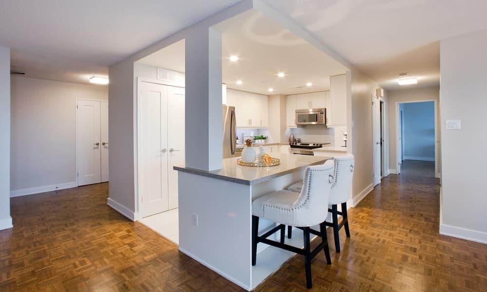 Beautiful Kitchen at Widdicombe Place in Etobicoke