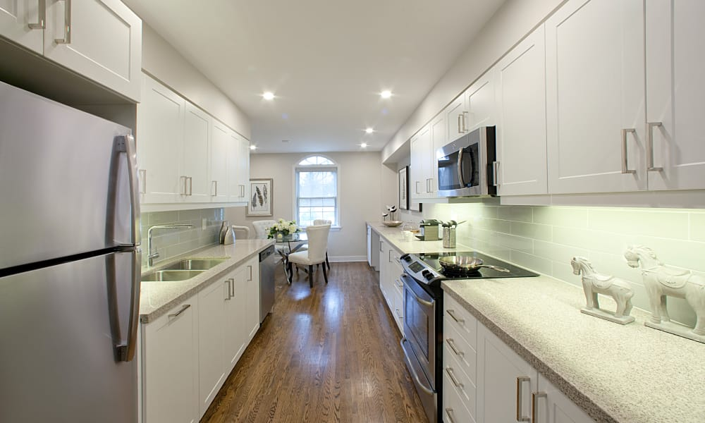 Stainless steel appliances at Lion's Gate in Etobicoke, Ontario