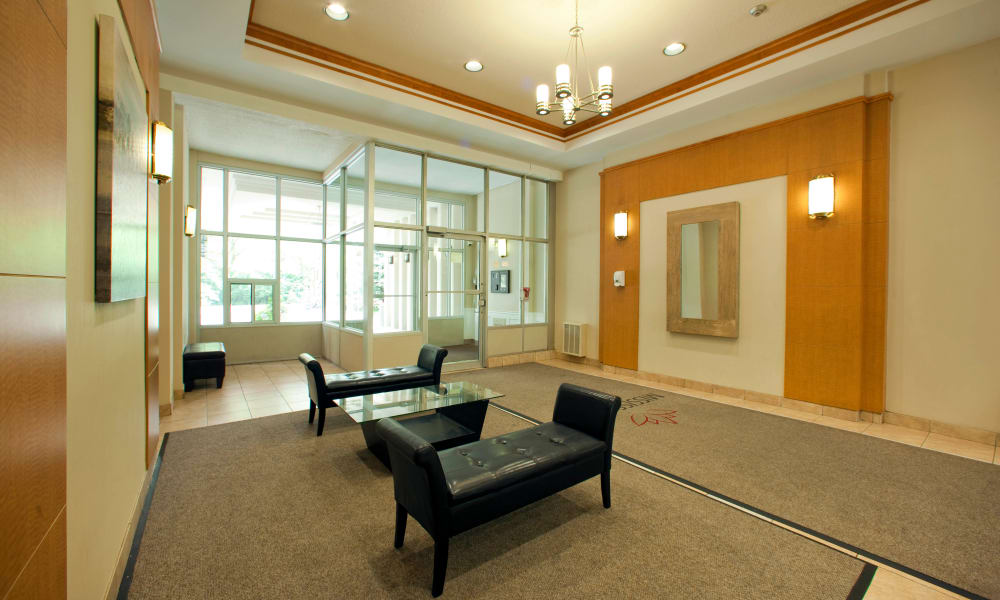 Front lobby at Mississauga Place in Mississauga
