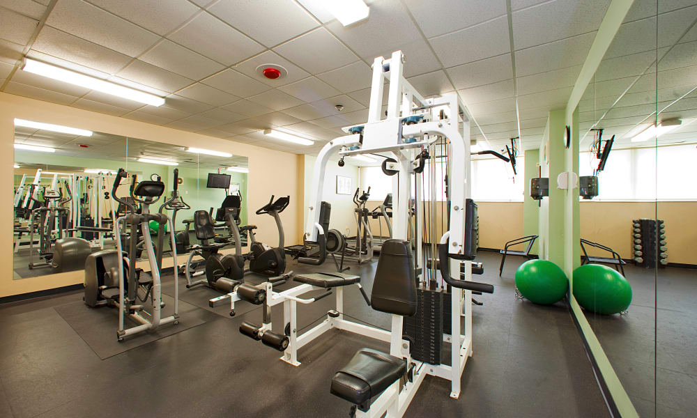 Fitness area at Mississauga Place in Mississauga