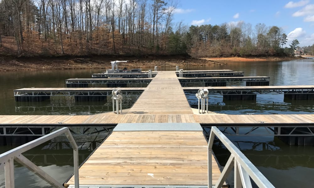 Docks on the lake by The Phoenix at Lake Lanier in Gainesville, GA