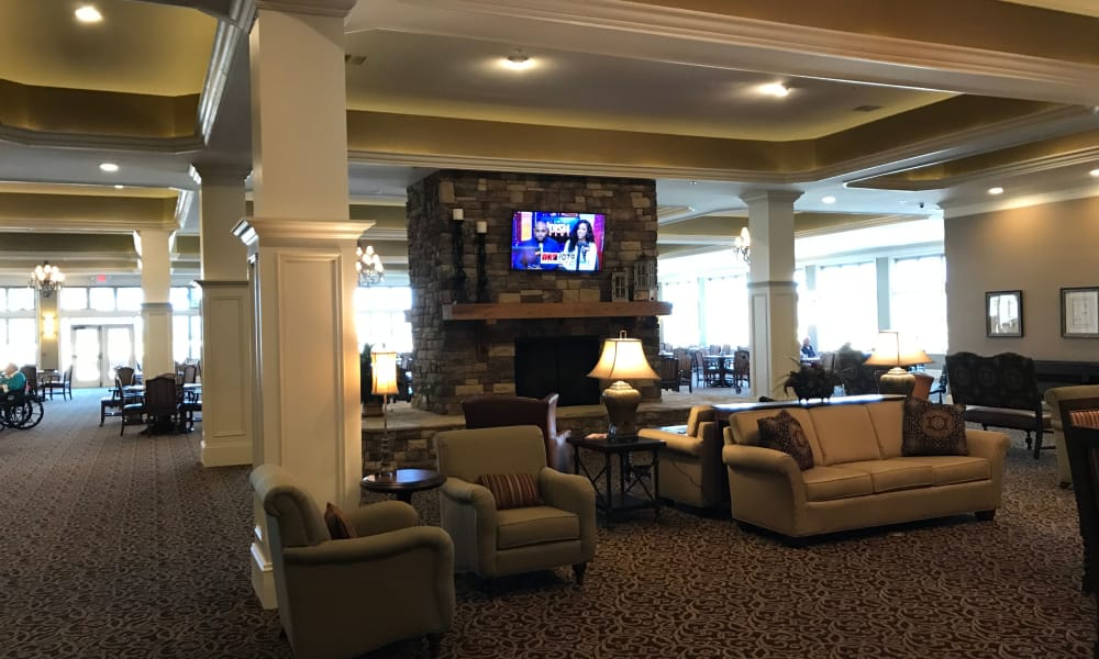 Main lobby area at The Phoenix at Lake Lanier in Gainesville, GA