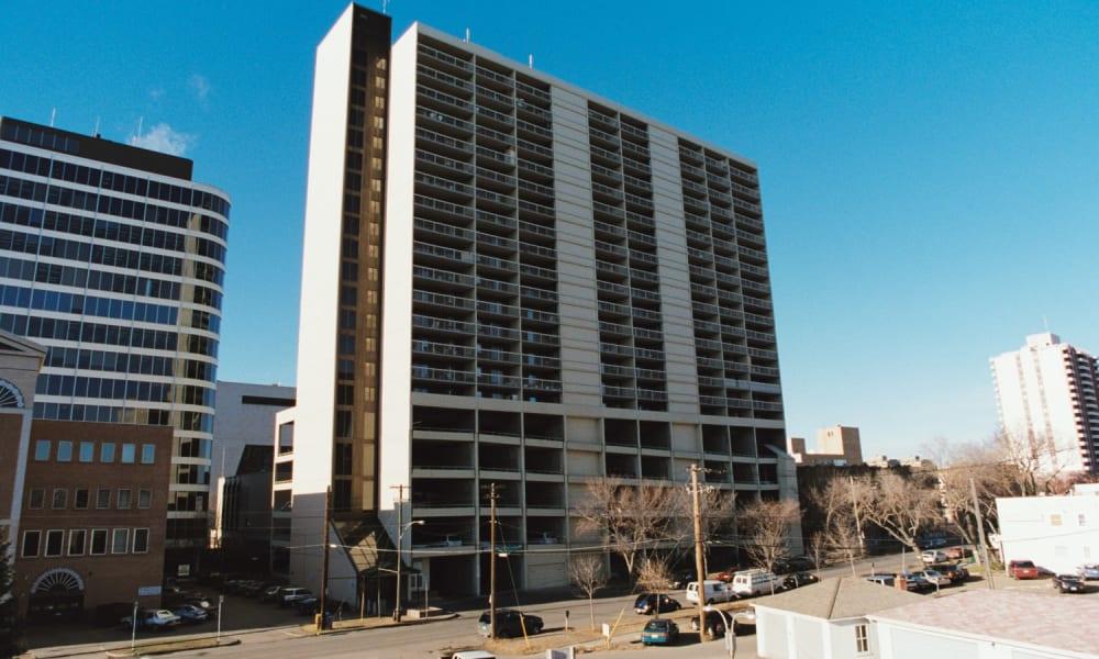 Aparment building at Saskatoon Tower in Saskatoon, Saskatchewan