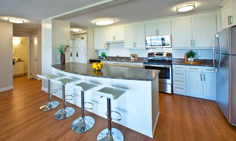 Beautiful kitchen at MacDonald Apartments in Halifax