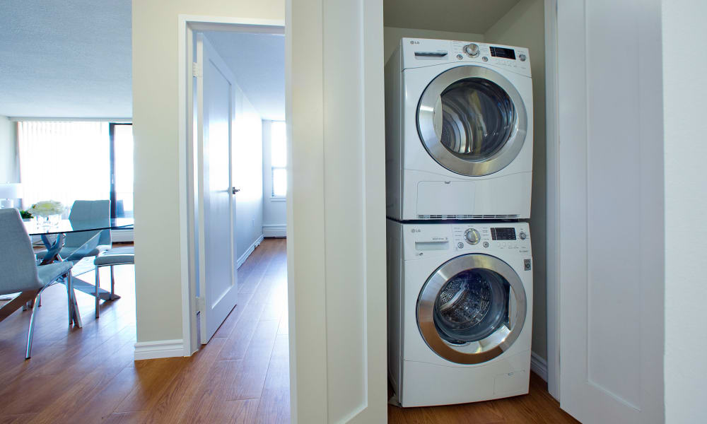 Washer and dryer at MacDonald Apartments in Halifax