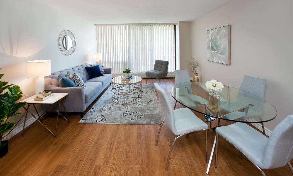 Beautiful hardwood floors at MacDonald Apartments in Halifax