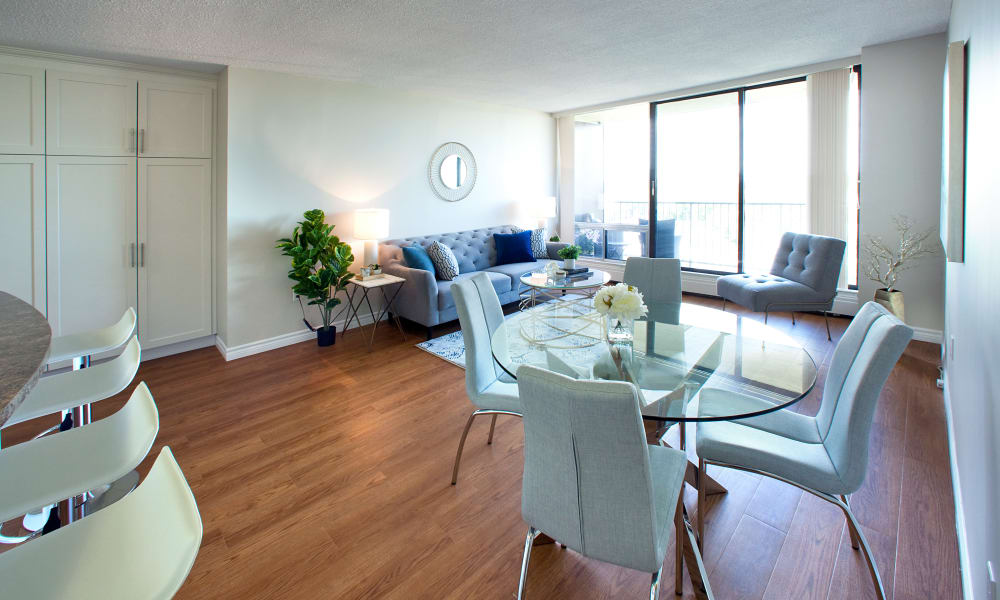 MacDonald Apartments living and dining room in Halifax