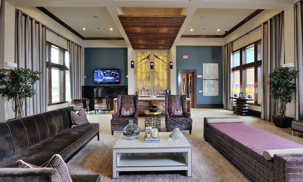 Modern living room at Grand Reserve Katy in Katy, Texas