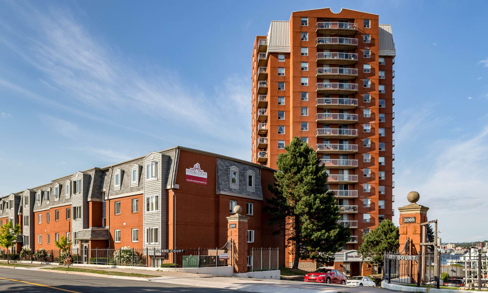 Streetside view of Cunard Apartments in Halifax