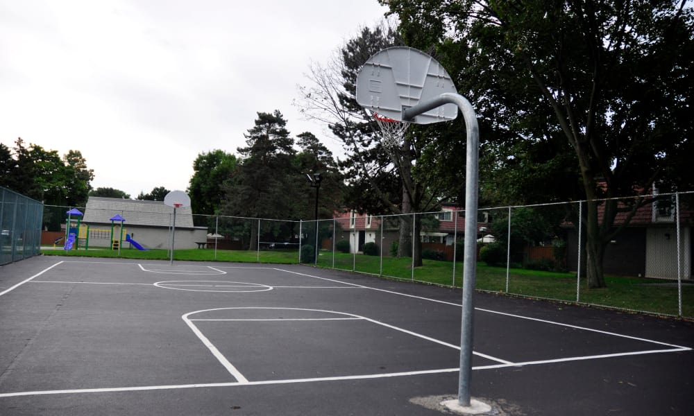 Basketball court at Georgian Court Estates in Burlington, Ontario