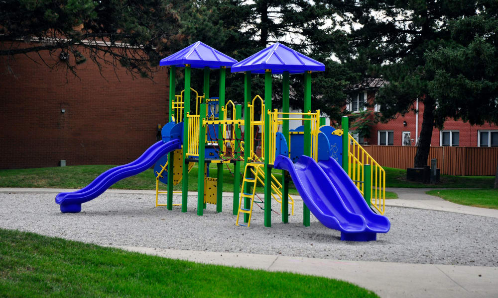 Playground area at Georgian Court Estates in Burlington, Ontario