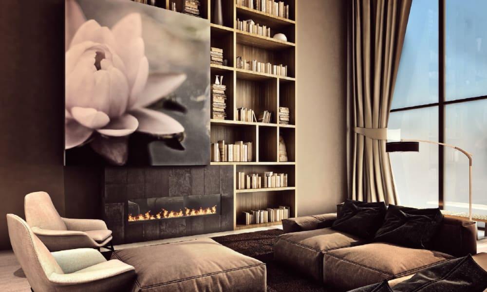 Wonderful built-in book shelves at Trend! in Las Vegas, NV