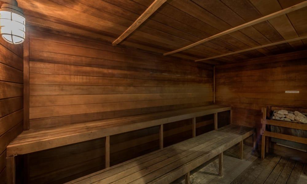 Sauna at The Paramount in Houston, Texas