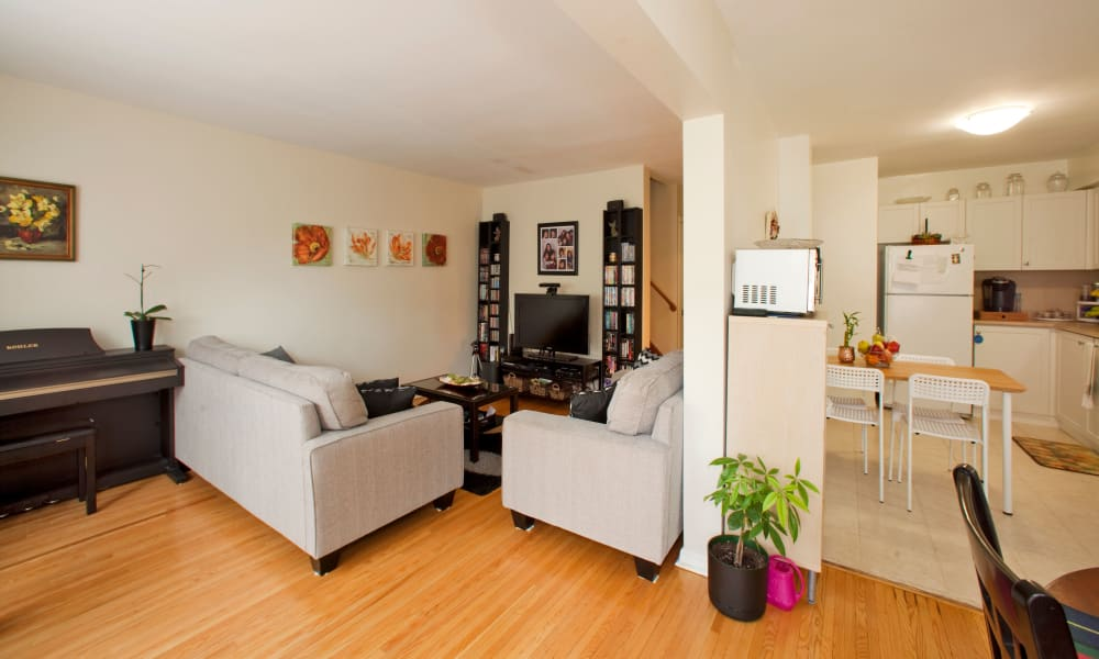 Spacious interiors at apartments in North York, Ontario
