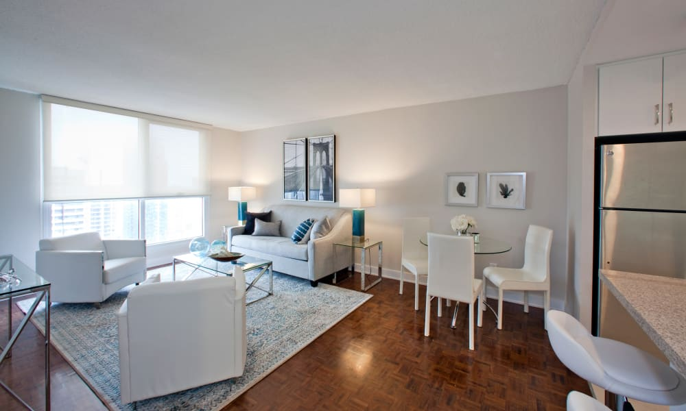 Enjoy a luxury living room at Richmond Hill Apartments in Richmond Hill, Ontario