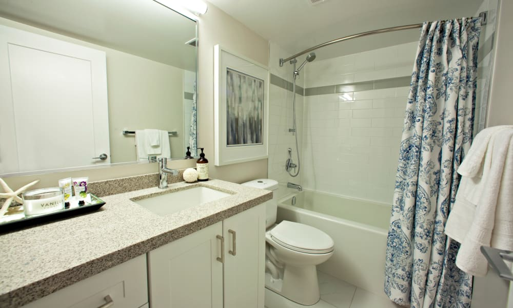 Spacious bathroom at Richmond Hill Apartments in Richmond Hill, Ontario