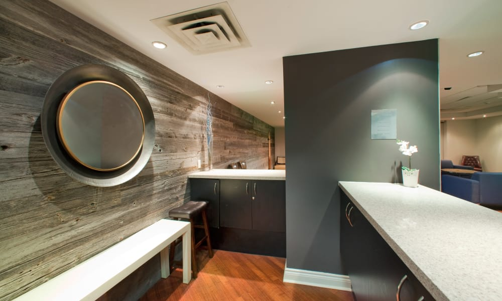 Spacious clubhouse at Residences on Bloor in Toronto