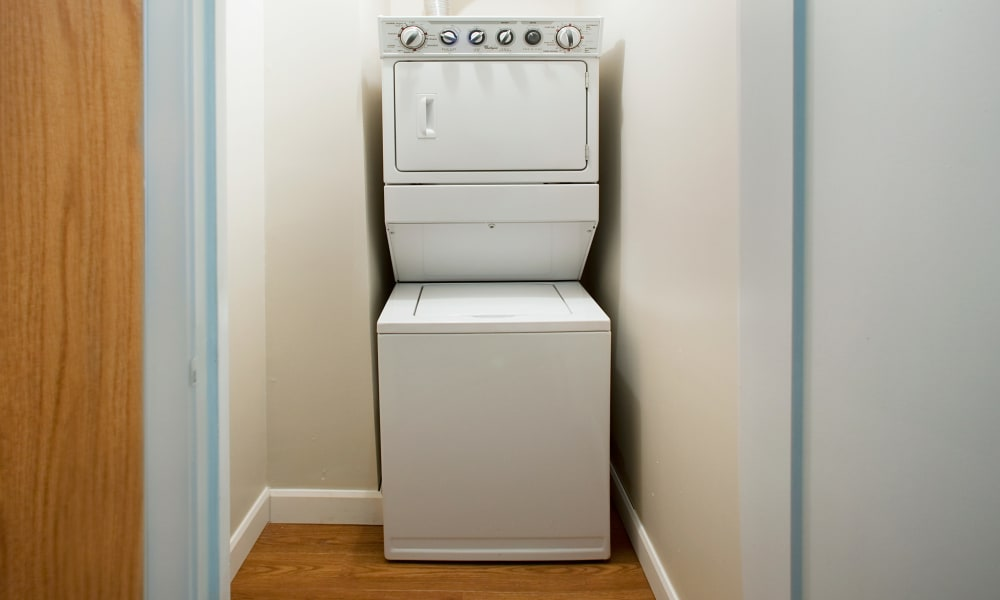 In-unit washer and dryer at StoneCrest Village in Halifax, Nova Scotia