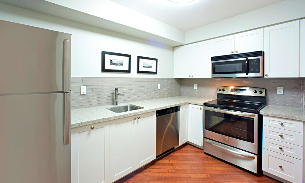 Enjoy a beautiful kitchen at Residences on Bloor in Toronto