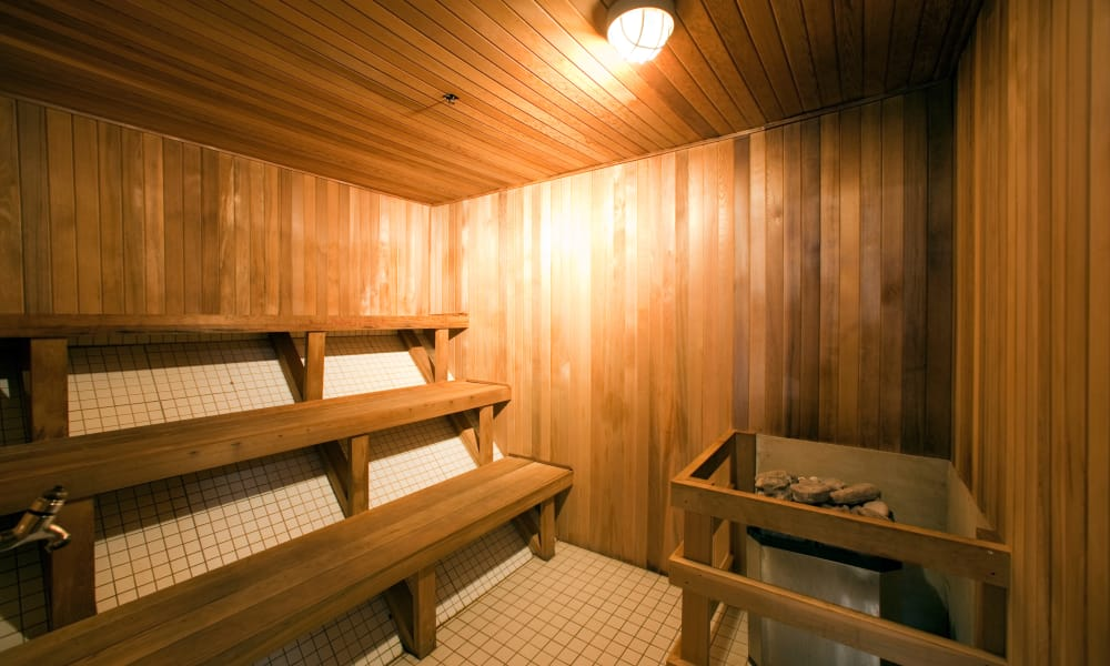 Sauna at Residences on Bloor in Toronto