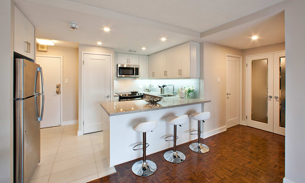 Kitchen at Residences on Bloor in Toronto