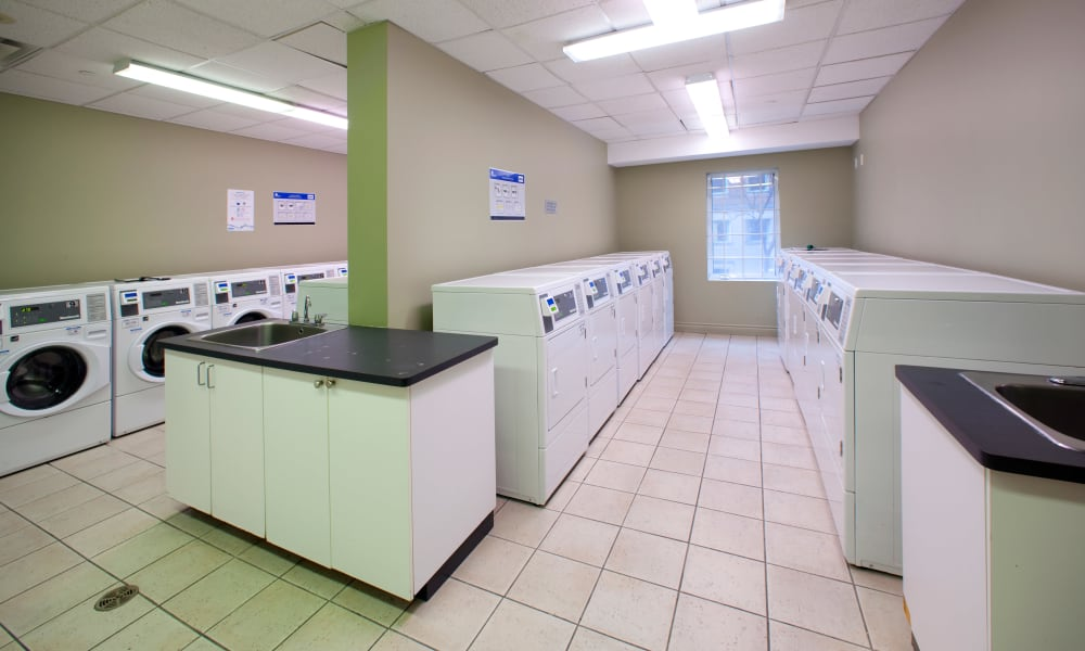 Laundry facility at Residences on Bloor in Toronto