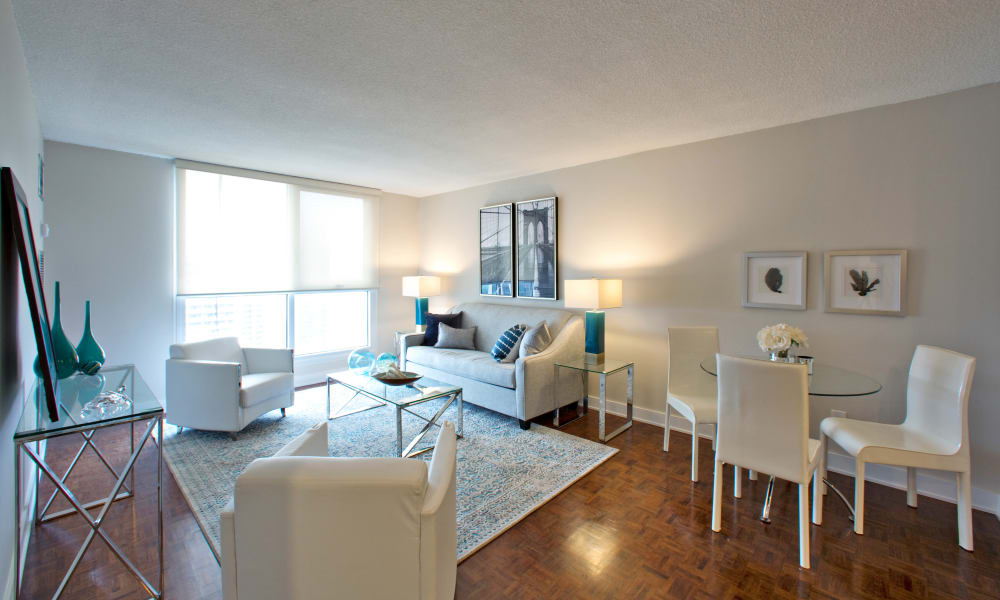 Residences on Bloor showcase a luxury living room in Toronto