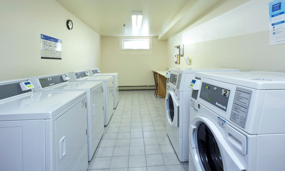 Laundry facility at StoneCrest Village in Halifax, Nova Scotia