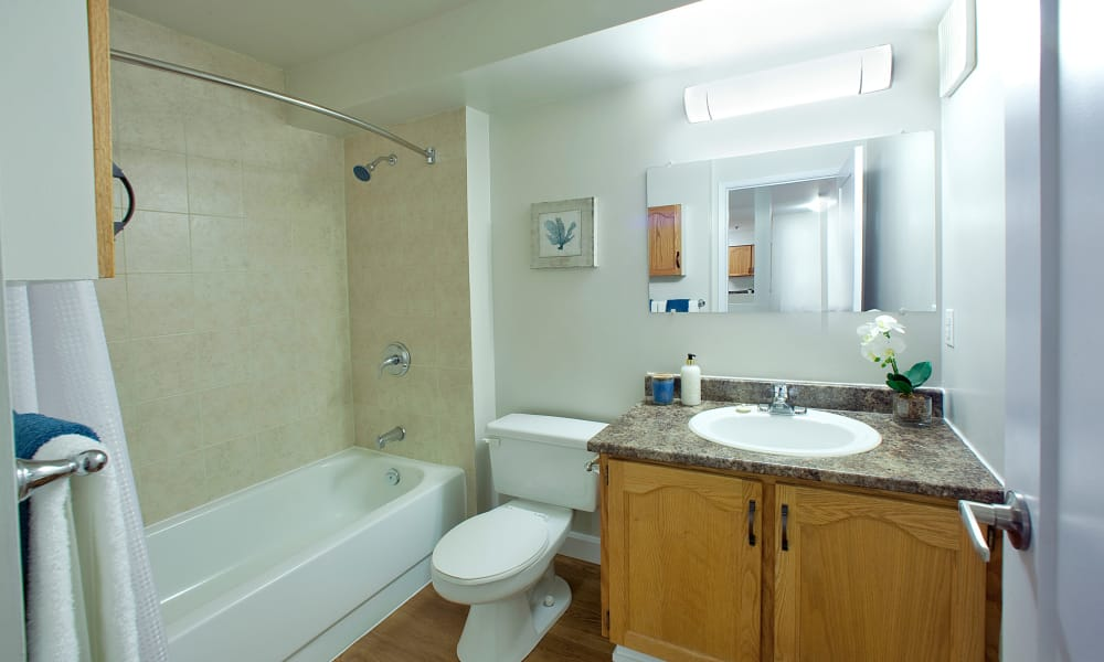 Spacious bathroom at StoneCrest Village in Halifax, Nova Scotia
