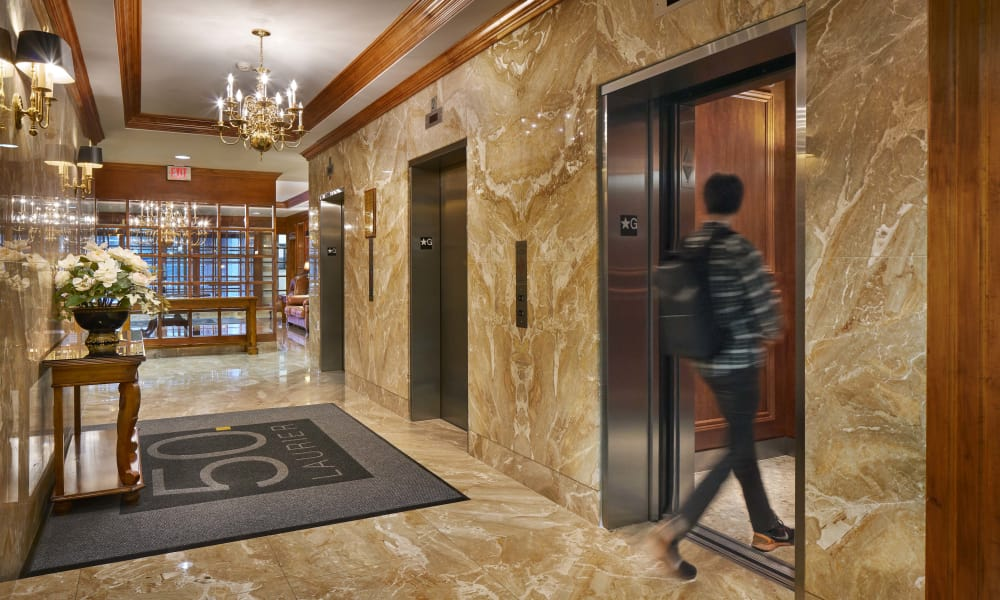 Elevators offered at 50 Laurier in Ottawa, Ontario