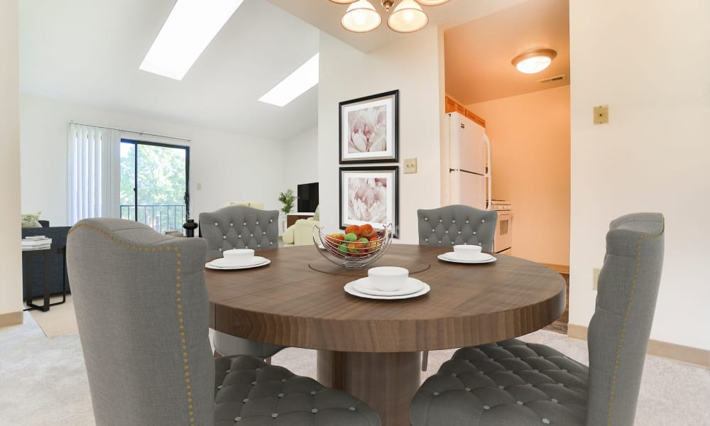 Dining Room at Cranbury Crossing Apartment Homes in East Brunswick, New Jersey