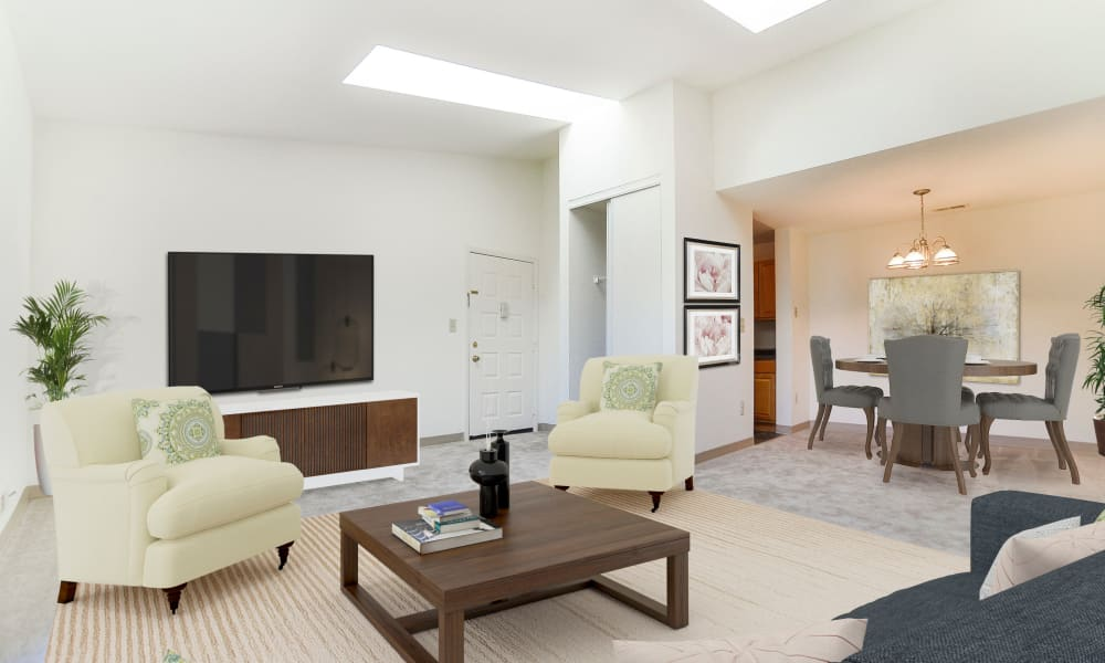 Living room at Cranbury Crossing Apartment Homes in East Brunswick, New Jersey