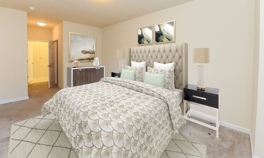 Spacious Bedroom at Cranford Crossing Apartment Homes in Cranford, New Jersey