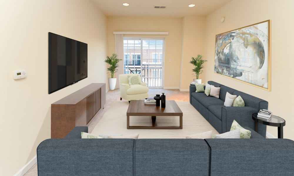 Beautiful Living Room at Cranford Crossing Apartment Homes in Cranford, New Jersey