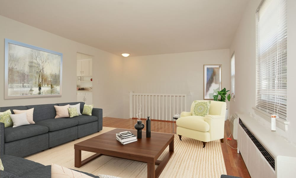 Spacious Living Room at Apartments in Springfield, New Jersey