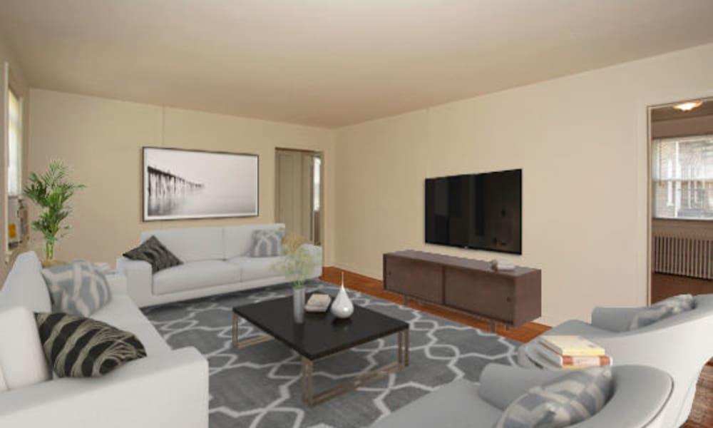 Living Room at Harper House Apartment Homes in Highland Park, NJ