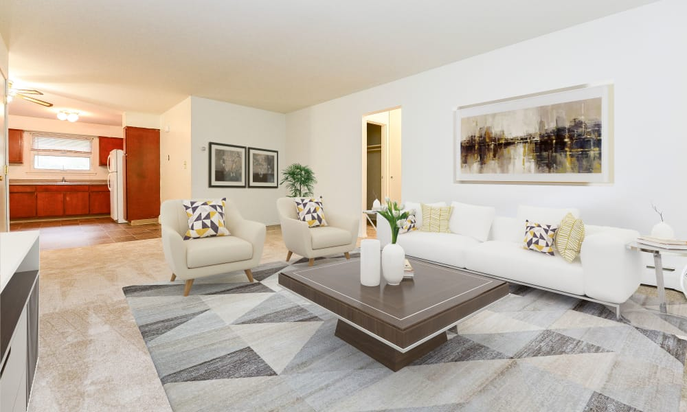 Living Room at Lakeview Terrace Apartment Homes in Eatontown, New Jersey