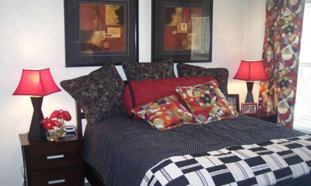 Bedroom at Stone Lake Apartments in Grand Prairie, Texas