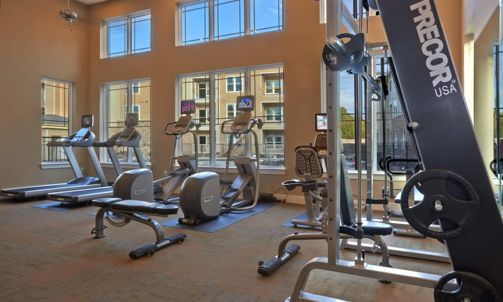 Fitness center at Seventeen15 in Houston, Texas