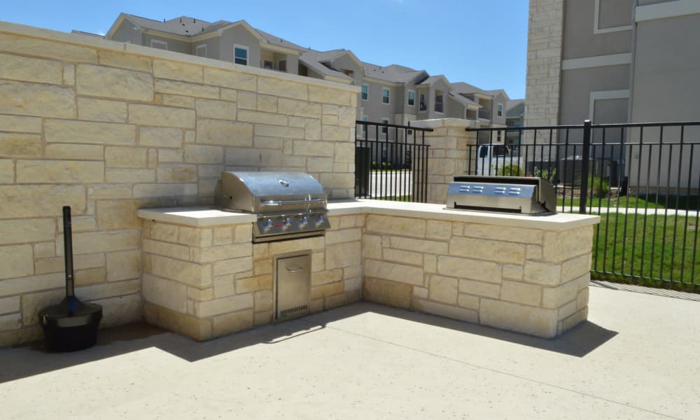 Barbecue area at Longhorn Crossing in Fort Worth, Texas