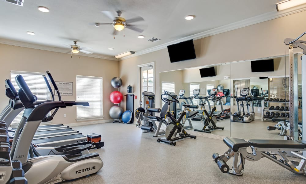 Fitness center at Longhorn Crossing in Fort Worth, Texas