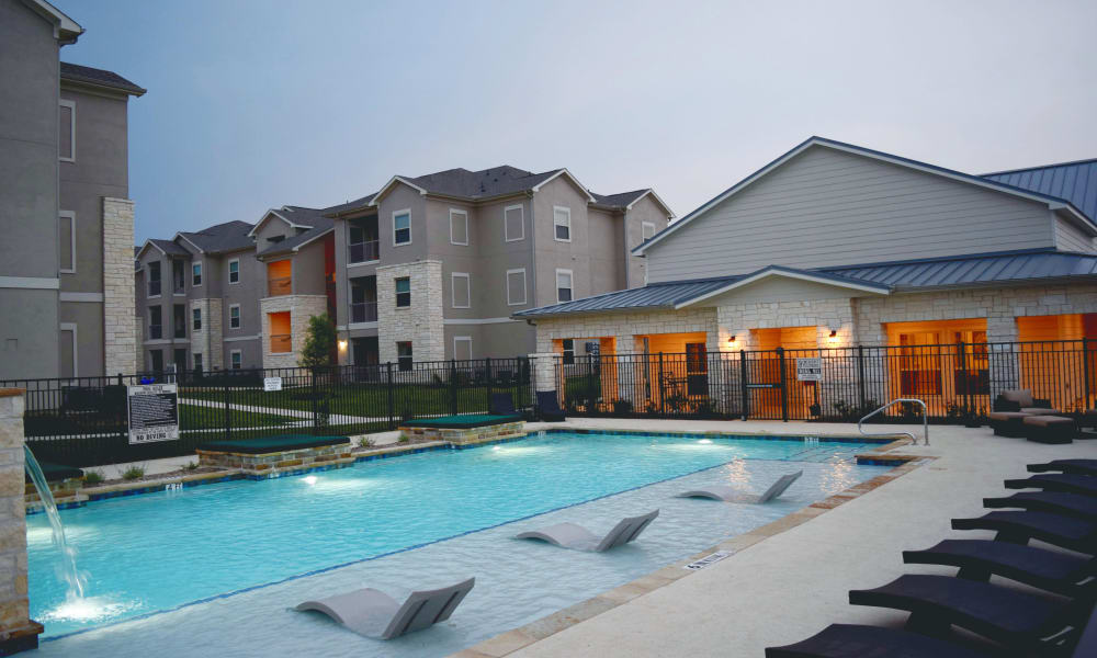 Swimming pool at Longhorn Crossing in Fort Worth, Texas