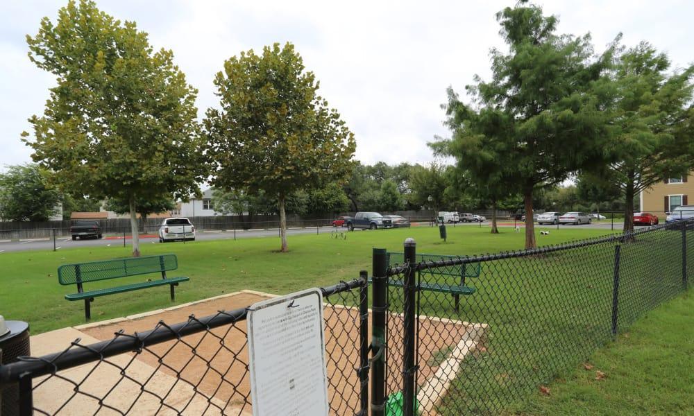 Dog park at Retreat at Chelsea Park in Selma, Texas