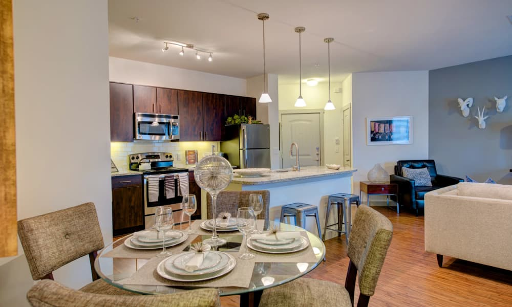 Beautiful apartment interior at 91 Fifty in Houston, Texas
